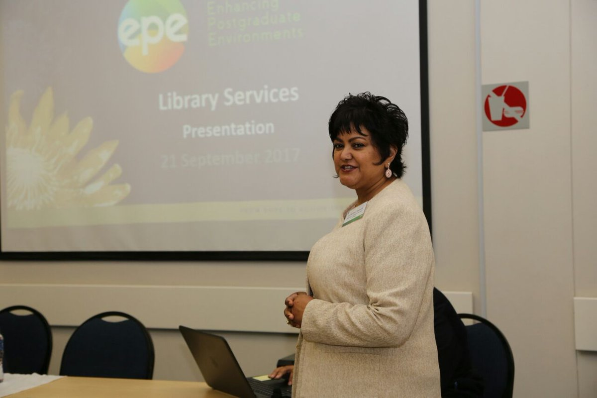 Dr Shirlene Neerputh_ Library is an enabler for postgraduate studies #UWC-EPE #ResearchImpact #DSPGS<br>http://pic.twitter.com/83FoUZDBMg