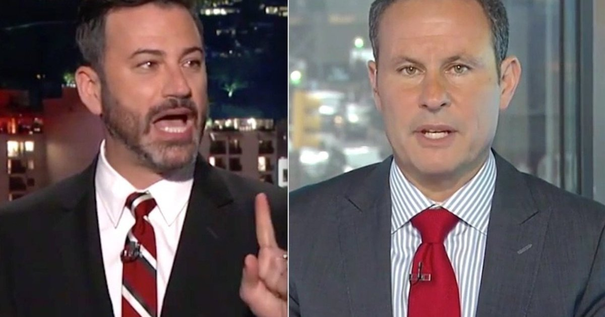 Jimmy Kimmel shreds Fox News host Brian Kilmeade as a 'phony little cr...