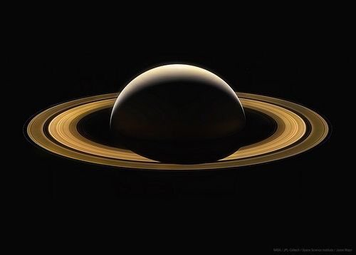 And now for something completely different:  Cassini&#39;s final full image of Saturn.  #space #NASA #science #astronomy #planets <br>http://pic.twitter.com/8biRmBupLt