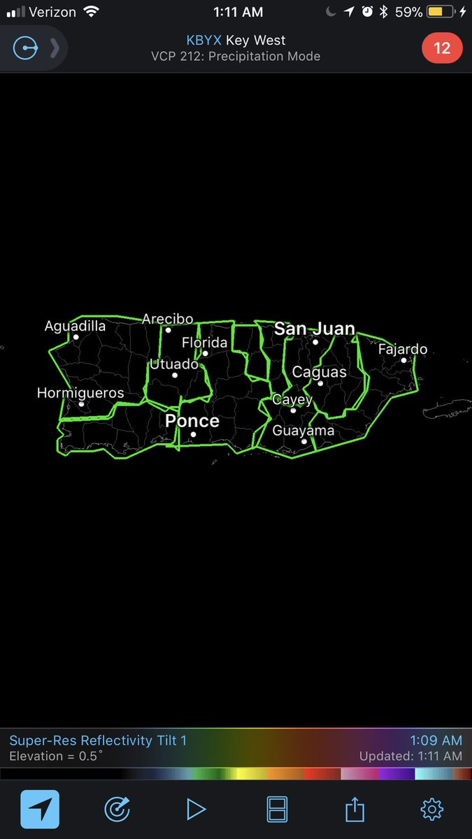 Incredible! The entire territory of Puerto Rico is under a #Flash #Flood #Warning as #Maria pushes away. TJUA Radar remains down. #PRwx<br>http://pic.twitter.com/VYuho9fqsI