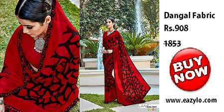 #Buy #online #Dangal #Fabric #Red #saree from  http:// Eazylo.com  &nbsp;  <br>http://pic.twitter.com/4cNAecAXg5