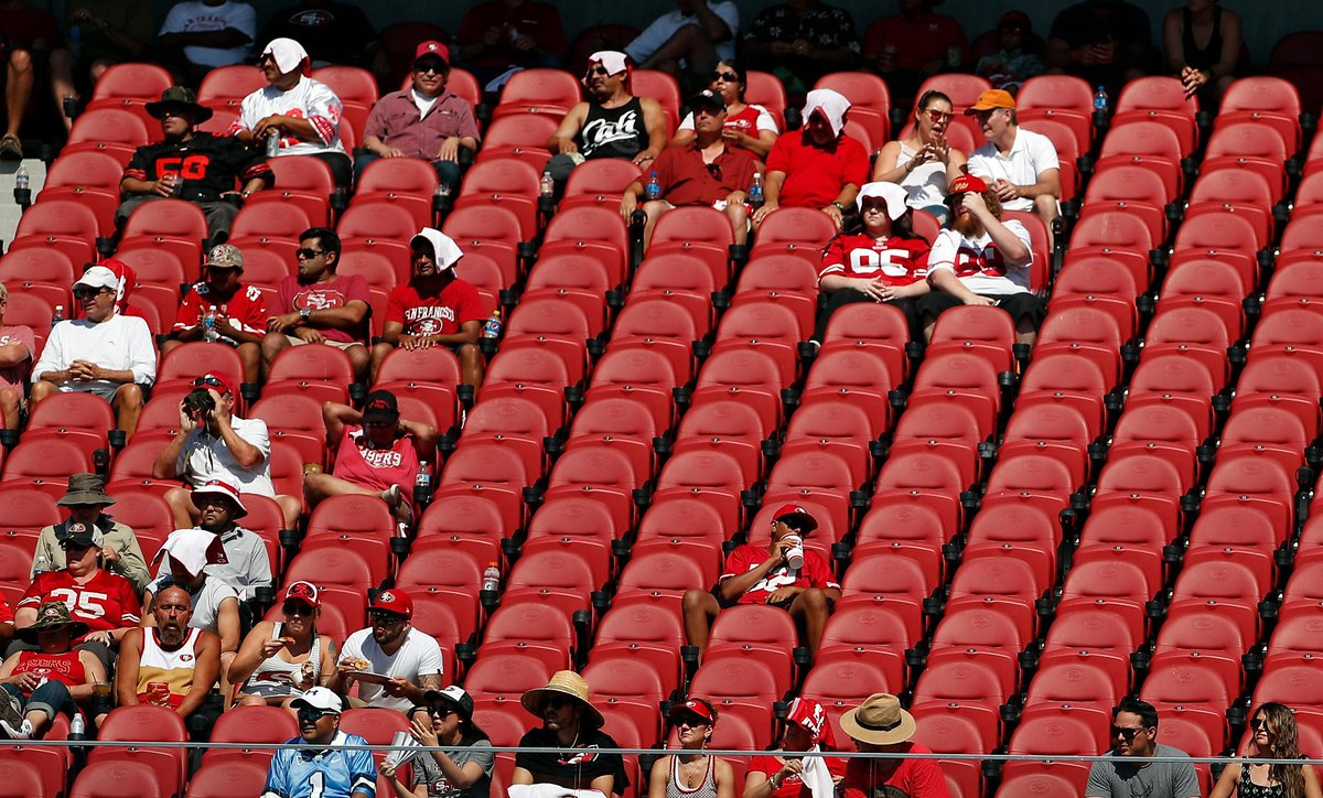 49ers-Rams tickets reselling for price of 2 stadium pretzels https://t...
