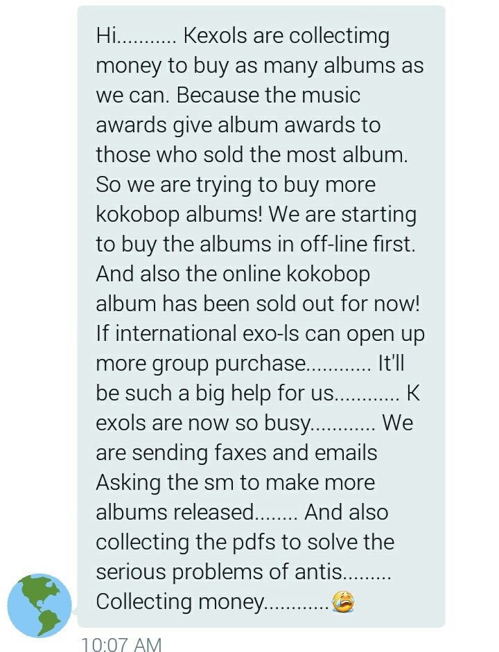 [PLEASE SPREAD IMPORTANT MESSAGE]   KEXOLs are challenging us to buy more albums online &amp; in store!!  #EXO #KOKOBOP #POWER  @weareoneEXO<br>http://pic.twitter.com/Jj6HFI14wG