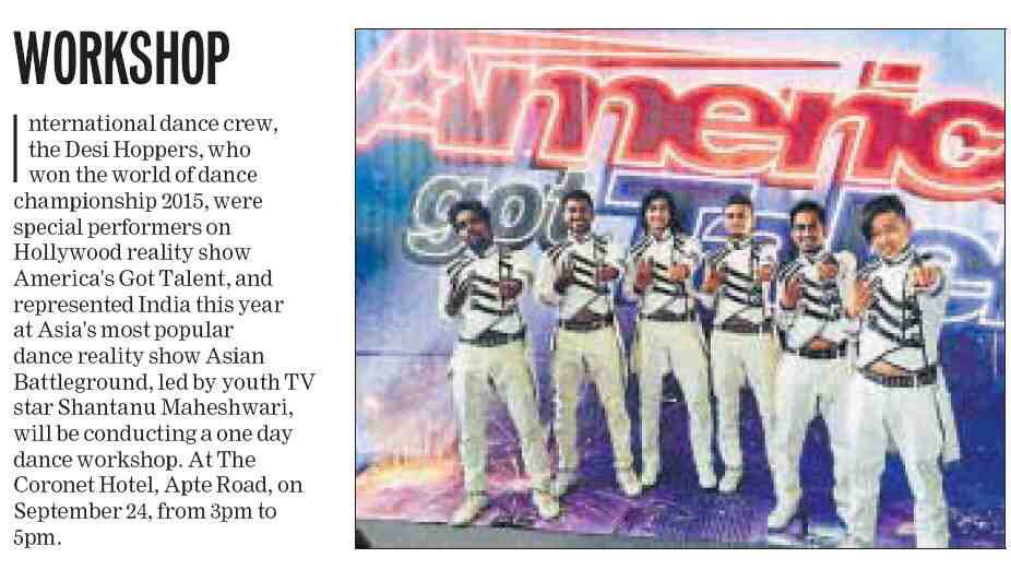 PUNE, Are you all ready??  Our workshop featured in HT PUNE Listing  To register, Call 08291567997  #HTPUNE #DesiHoppers #Workshop <br>http://pic.twitter.com/Dl9yU9Flv7