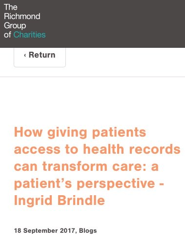 Latest blog by @IngridBrindle as part of #DataSavesLives with @Patient_Data. We think #KnowledgeSavesLives  https:// richmondgroupofcharities.org.uk/news/guest-blo g-patient-access &nbsp; … <br>http://pic.twitter.com/xg1X5LcFzH