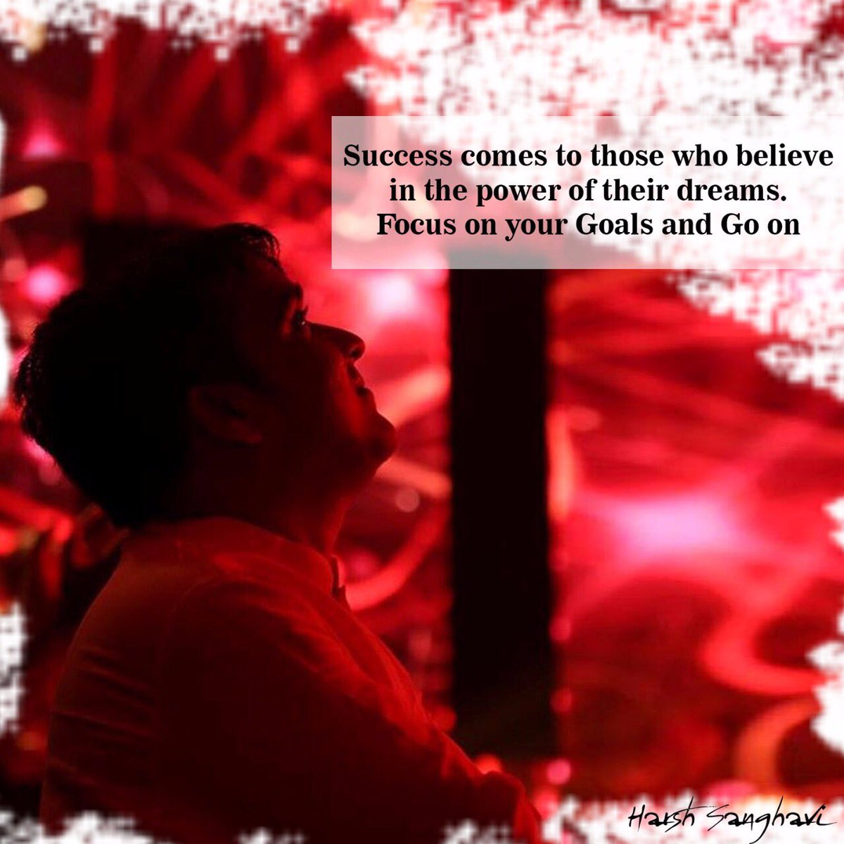 Success comes to those who believe in the power of their dreams. Focus...