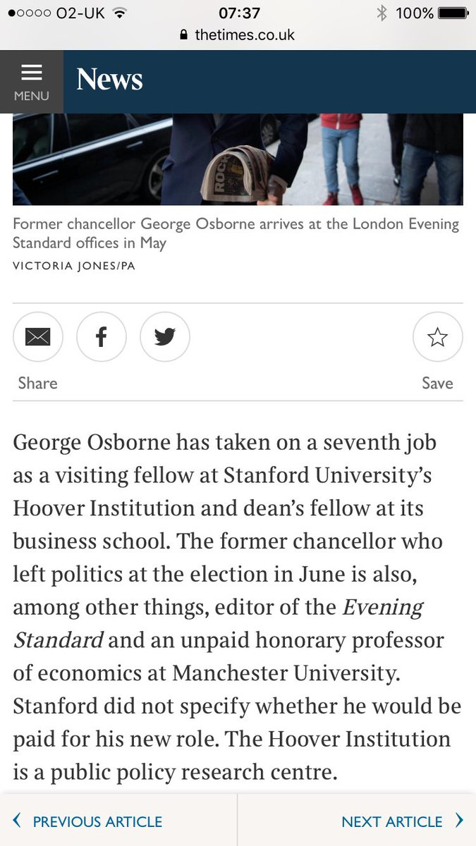 George Osborne takes 7th job - Times today https://t.co/pFUffKj1bz