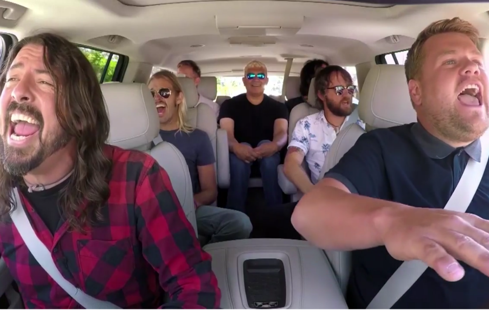 Watch Foo Fighters sing classic hits on James Corden's #CarpoolKaraoke...