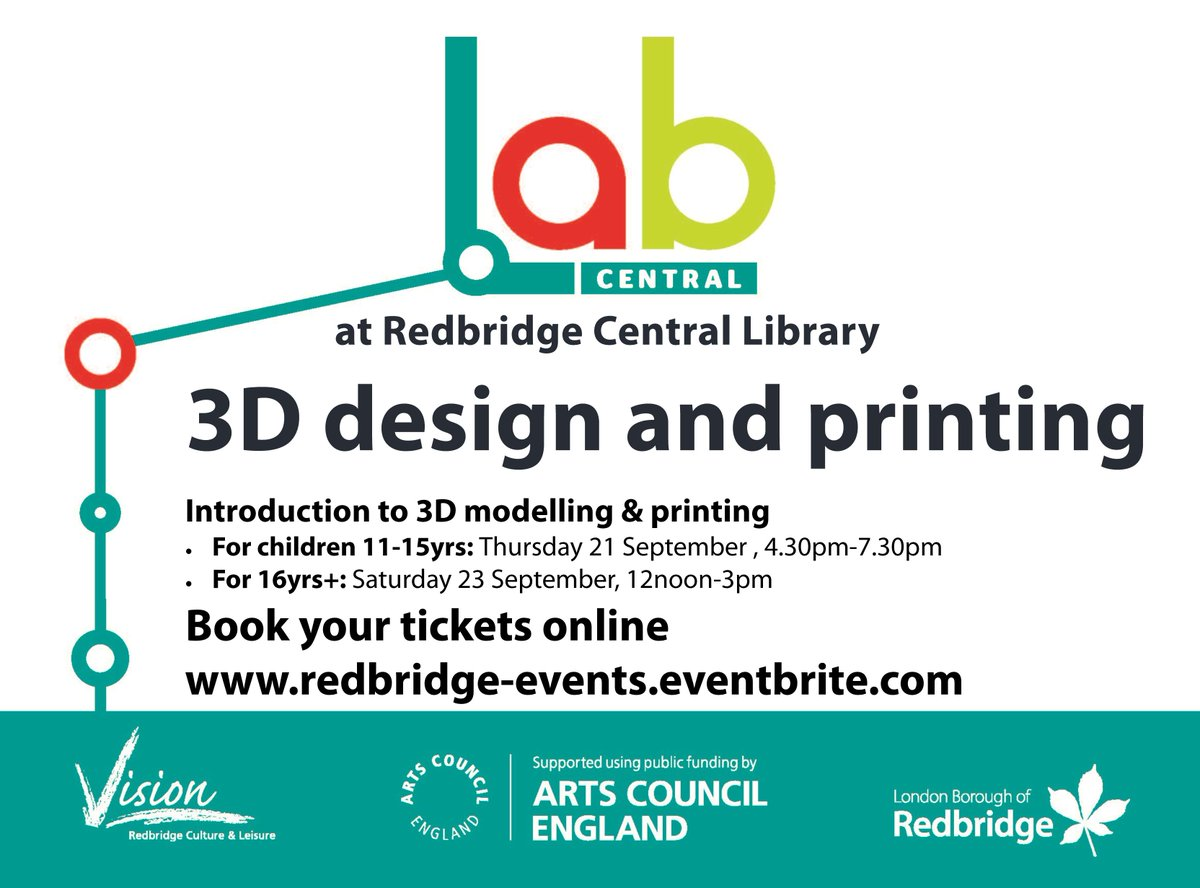 It&#39;s #showtime today @ #LabCentral @techilford&#39;s 1st #junior #3dmodelling &amp; #3Dprinting #Design #Workshop @RedbridgeLibs #Ilford. Awesome!!!<br>http://pic.twitter.com/VPXi5cJ3xl