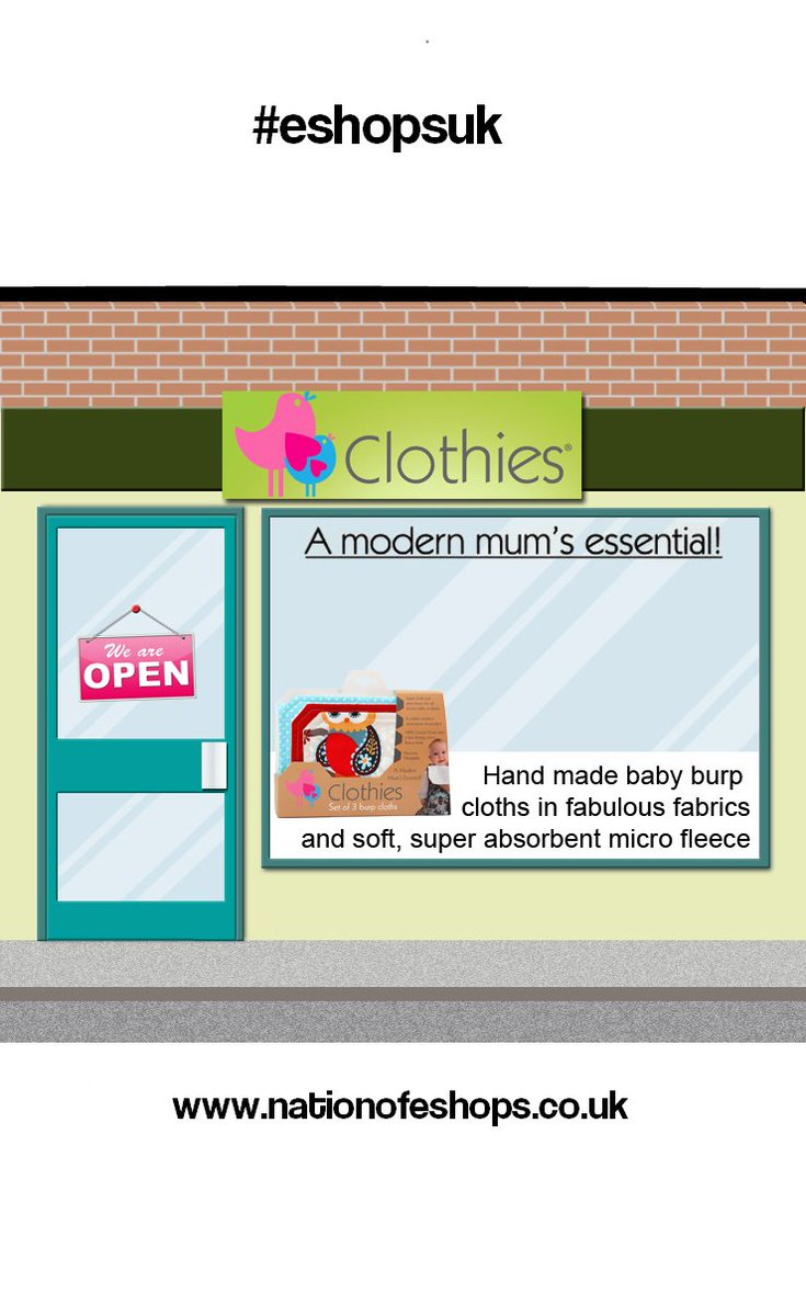 Shop Online 2017 #Handmade #fabric #baby #burp #cloths @ClothiesSarah on @Nationofeshops New HighStreet #eshopsuk  http:// nationofeshops.co.uk/onlinehighst/c hildrens.html &nbsp; … <br>http://pic.twitter.com/NIRihtYplX