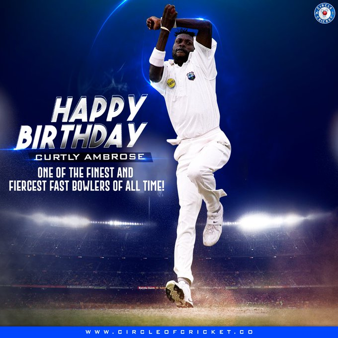 One of the most lethal pace bowlers of his generation Happy birthday, Sir Curtly Ambrose