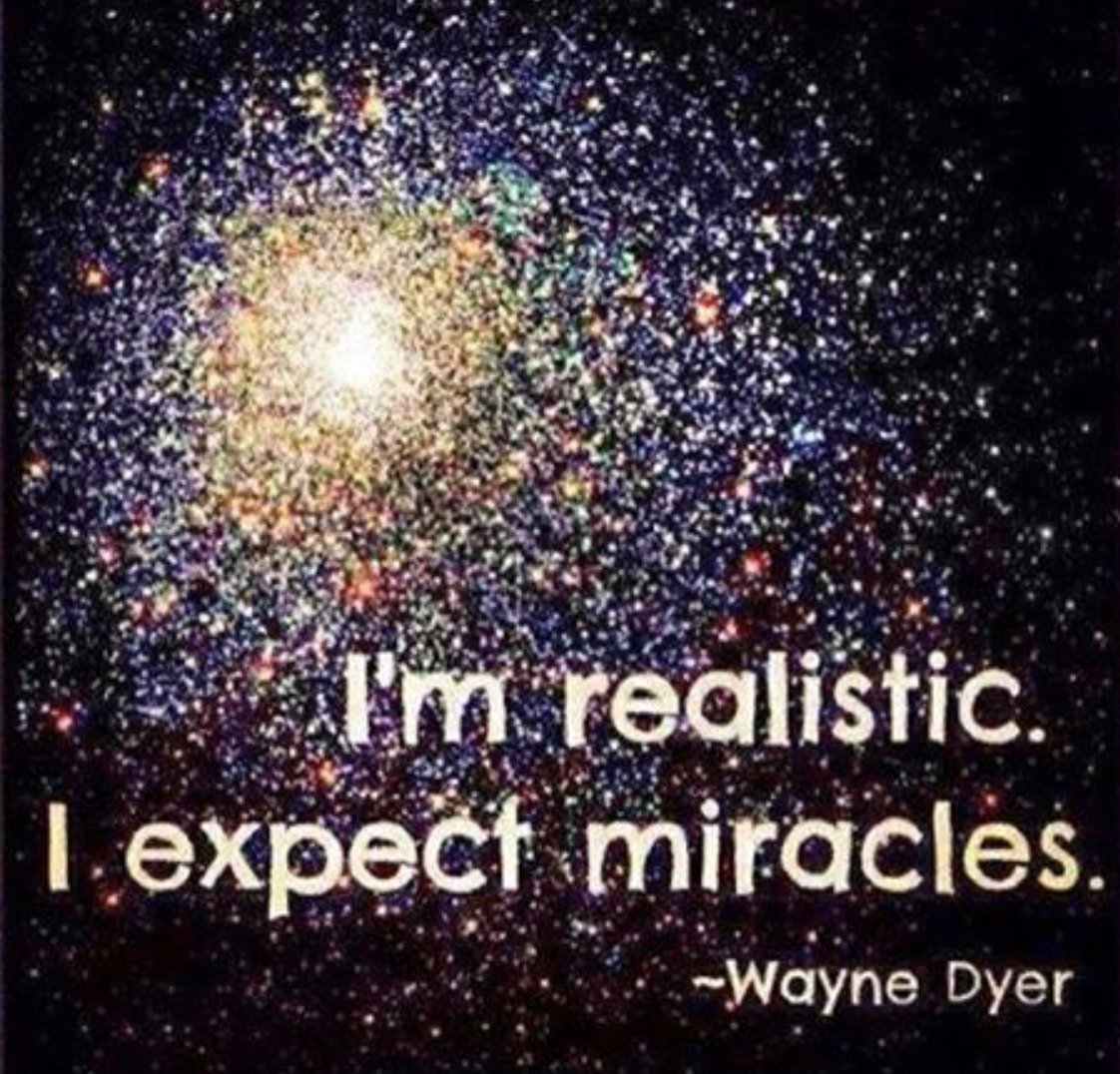 I&#39;m realistic! I expect #miracles! #Mindfulness #Gratitude #Empathy #Love #Trust #Visualization<br>http://pic.twitter.com/Nmz6PdbMNc