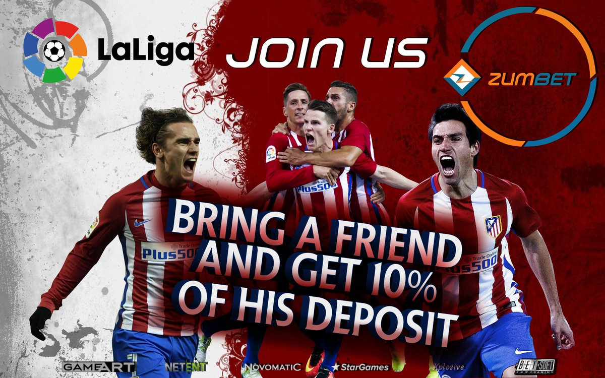Here is an offer to make WIN-WIN situation for a friend and you. #football #laliga #AtleticoMadrid #griezmann #spain #sport #onlinebetting<br>http://pic.twitter.com/la6ZZreNzT