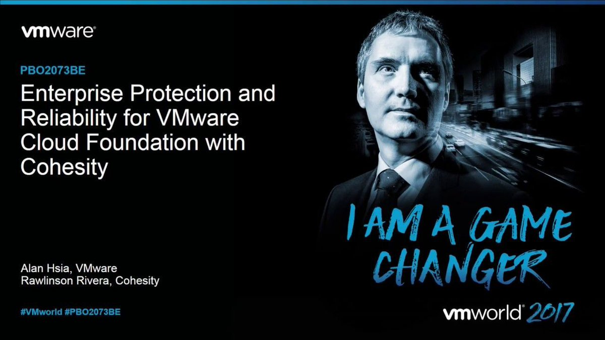 If you missed my .@cohesity and @vmwcf session at #VMworld Barcelona,here is your chance to listen to it.  http:// pnchng.cloud/2fdumwY  &nbsp;  <br>http://pic.twitter.com/PdiMoxKPqo