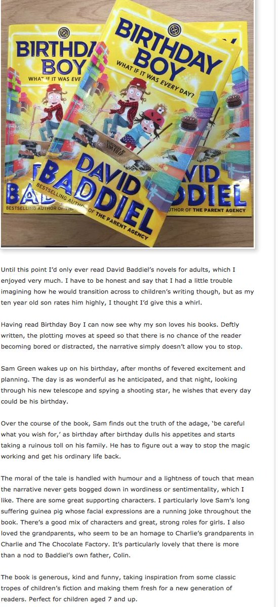 Review of Birthday Boy from the very fine encouraging-kids-to-get-into...
