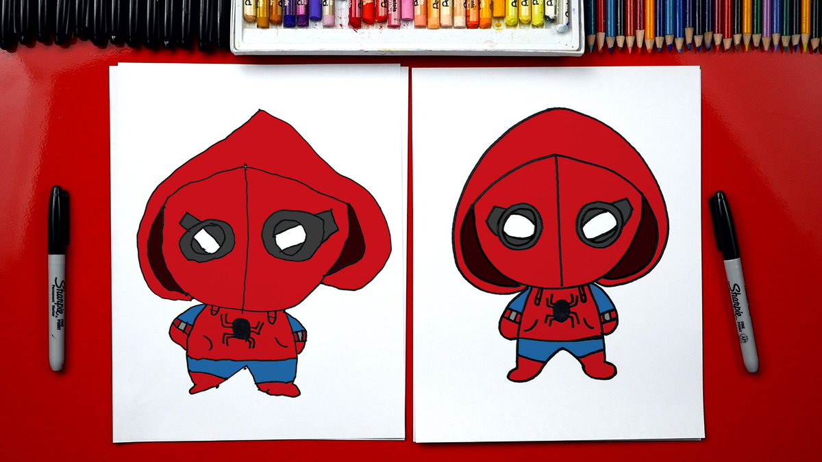Art For Kids Hub On Twitter How To Draw Spider Man