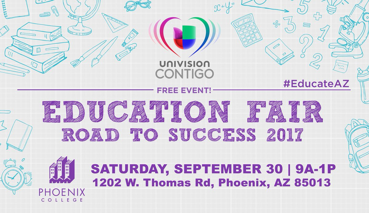 The Road to Success Education Fair is a great event &amp; volunteer opportunity for PUHSD students. See Community Liaisons for details #Educate <br>http://pic.twitter.com/jV40sgglDr &ndash; at Phoenix Union High School District