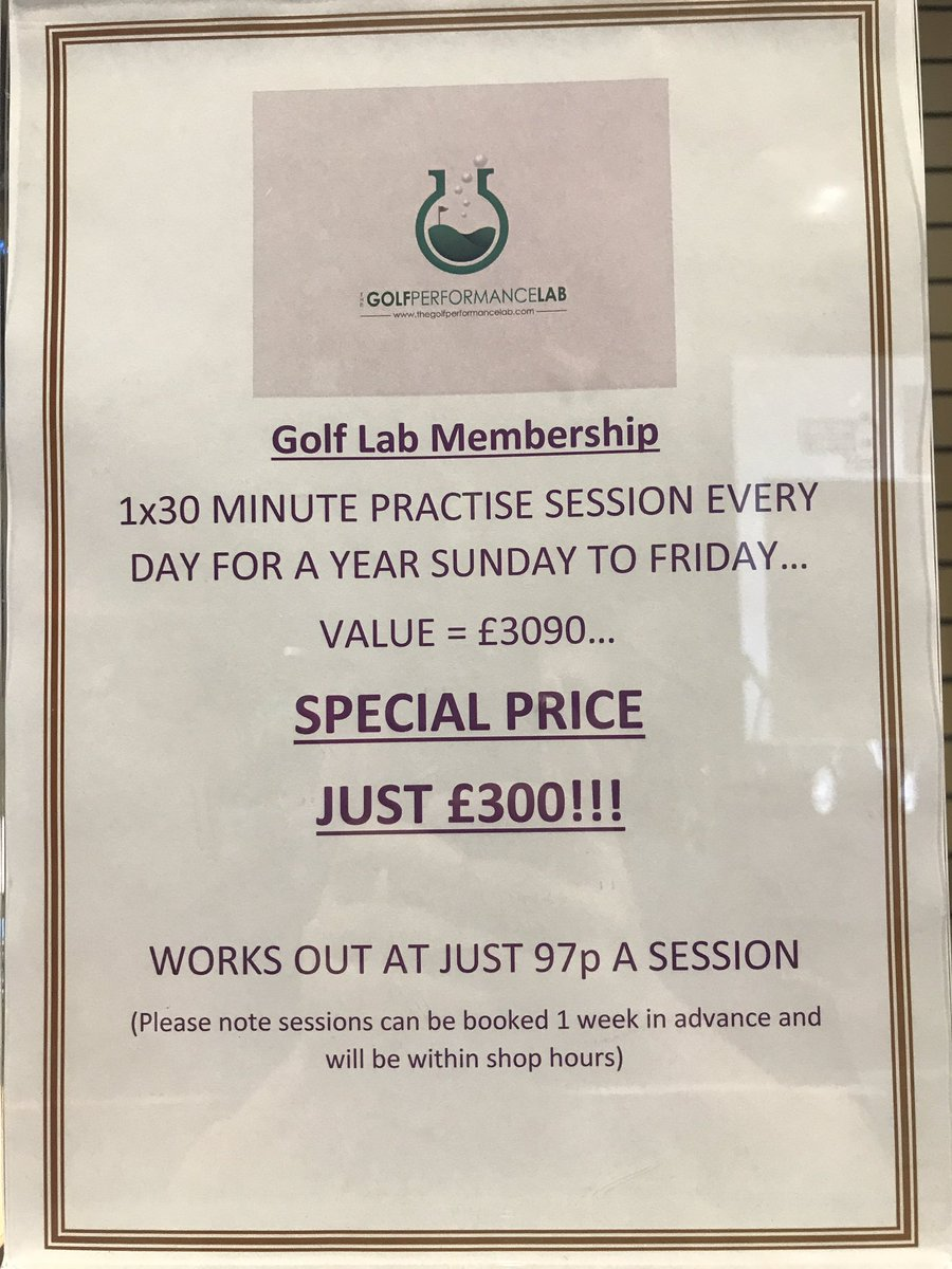 Limited memberships available! Don&#39;t miss out #golf #GCQuad #practise #warmpractise  #gettingbetter #getintogolf #getintothelab<br>http://pic.twitter.com/JGLu4sWuVC