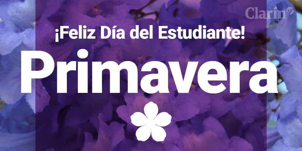 #FelizPrimavera y #DíaDelEstudiante 💐📚  Recibí la fuerza de esta nueva...