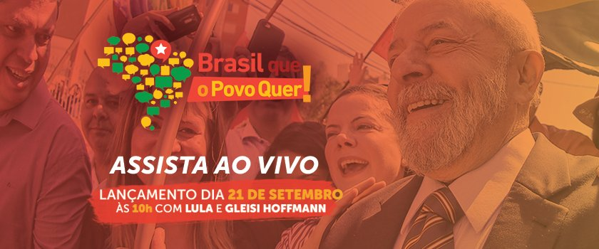 #BrasilQueOPovoQuer Chega junto! Tuíte, acompanhe, construa e particip...