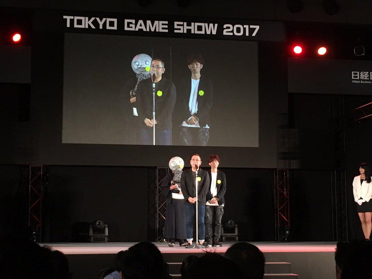 「日本ゲーム大賞2017」にて『NieR:Automata』が優秀賞をいただきました。 #NieR #ニーア