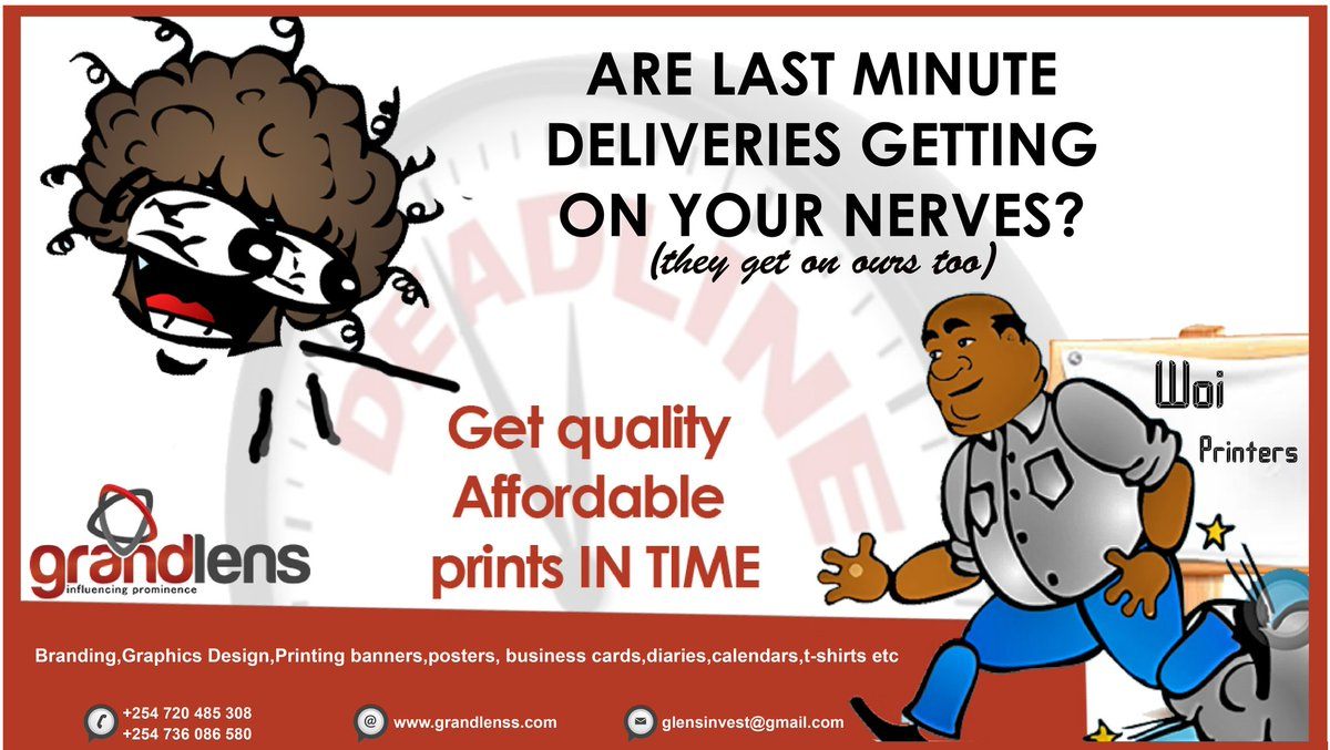 No last minute hustles..get your #print work way before deadline.  #Grandlensdelivers #printing #branding #graphicsdesign<br>http://pic.twitter.com/et7eYvL6q1