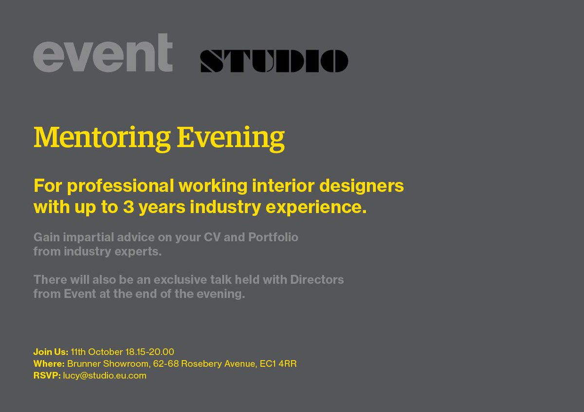 Calling Junior Interior Designers For A Free Mentoring Evening