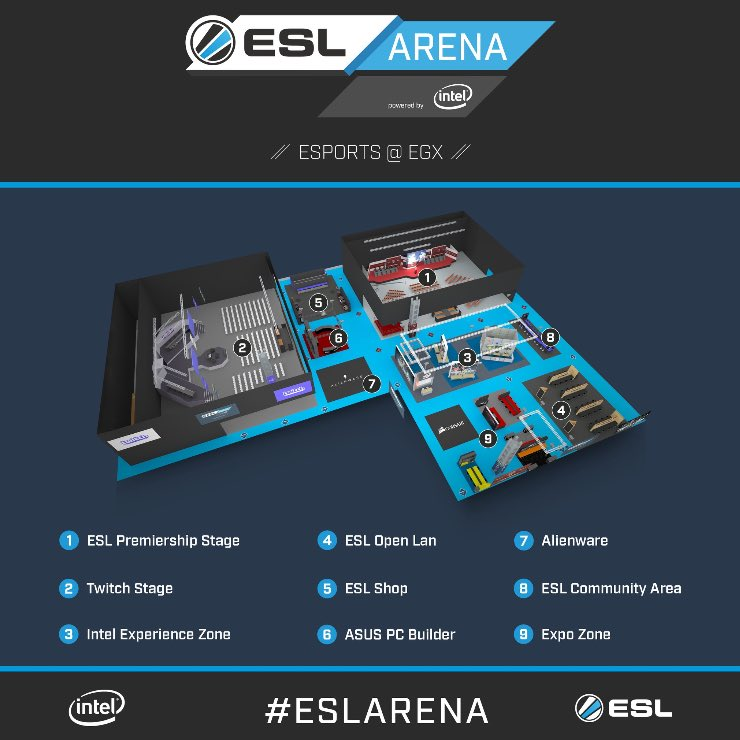 We're at #EGX2017 all week with the #ESLArena, make sure to stop by if...
