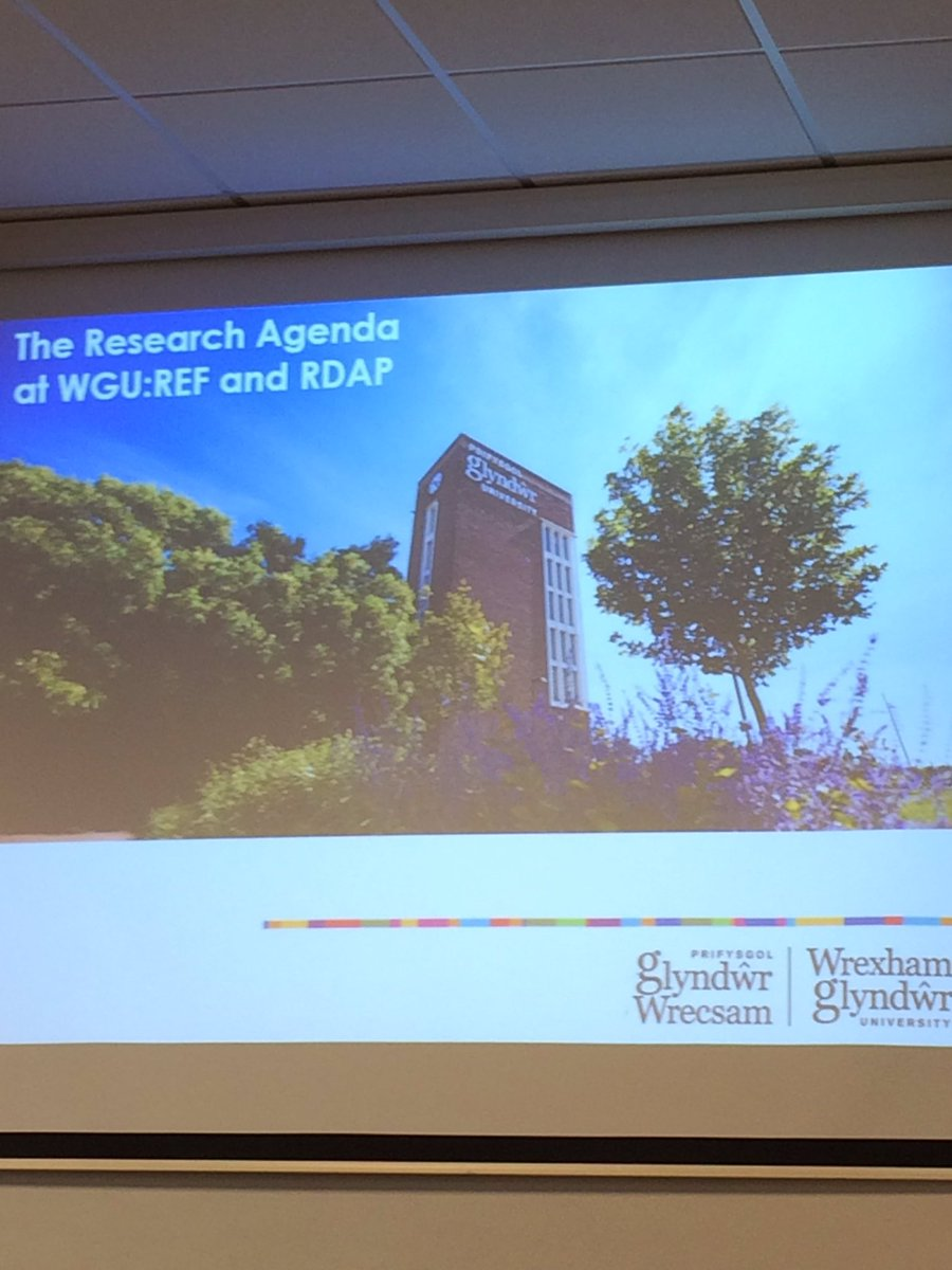Day 2 of #Engage2017 @GlyndwrUni and we are focussing on all things #research this morning #REF #RDAP #highered<br>http://pic.twitter.com/pOPeH9yk71