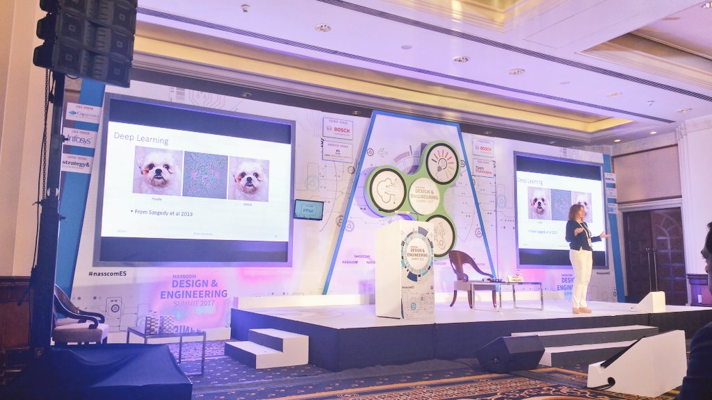 When it&#39;s #DanielaRus, session has to be interactive &amp; insightful! #DeepLearning explained amazingly. @MIT_CSAIL  #nasscomES<br>http://pic.twitter.com/UQT10cBmTe