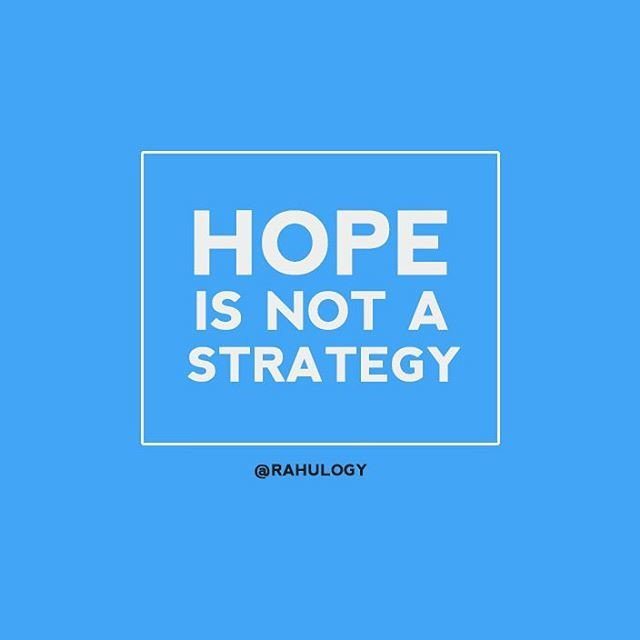 Reposting @rahulogy: &quot;Hope can&#39;t be a strategy to achieve goals&quot; #rahulogy  #salontrepreneur #businessadvice #businessowner <br>http://pic.twitter.com/o2qm7SJSY0