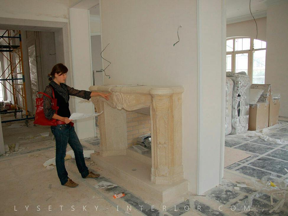 Our lead designer Inna Lysetska at work. And the incredible result!  #design #interior #fireplace #diningroom #interiordesign #furniture<br>http://pic.twitter.com/w5MhtOIEwk