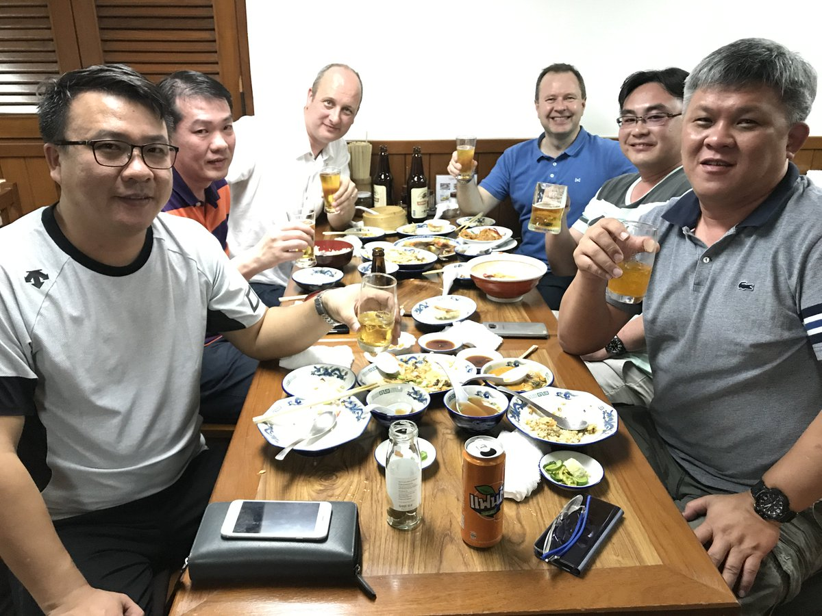#Power #Gen #Asia stand O28: After a long &amp; busy day meeting new customers; the UK, Singapore &amp; Chinese teams are working hard at relaxing!<br>http://pic.twitter.com/Px96XHRRpu