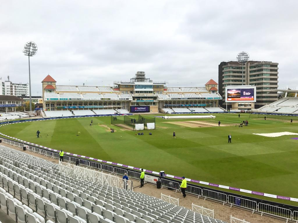 Welcome to Trent Bridge! Moody skies but no rain so far ☁️🏏   #ENGvWI...