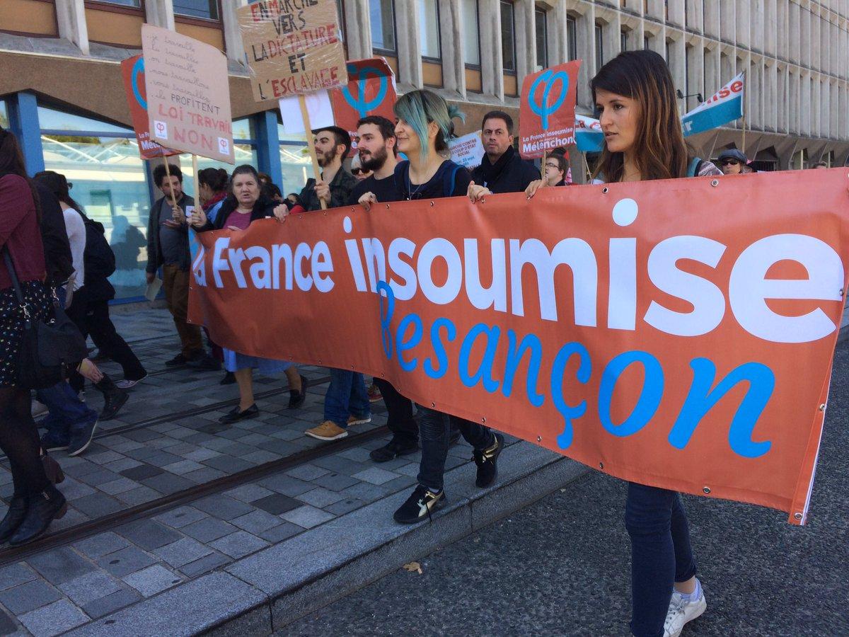 #Besancon : environ 1000 personnes défilent pour la #manif21septembre...
