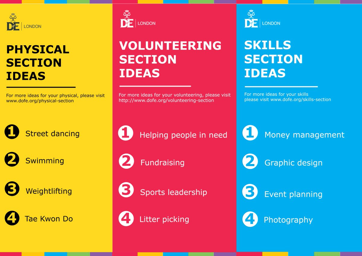 """dofe london on twitter: """"looking for ideas for your physical"""