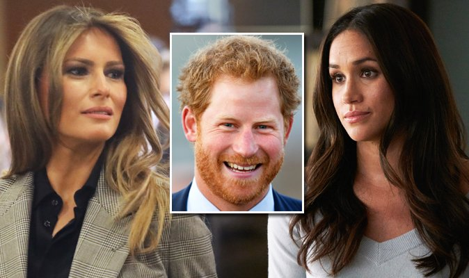 Prince Harry and Meghan Markle to meet Melania Trump - after Suits star SLATED Donald, calling him 'misogynistic' https://t.co/GDZfyrVM9U