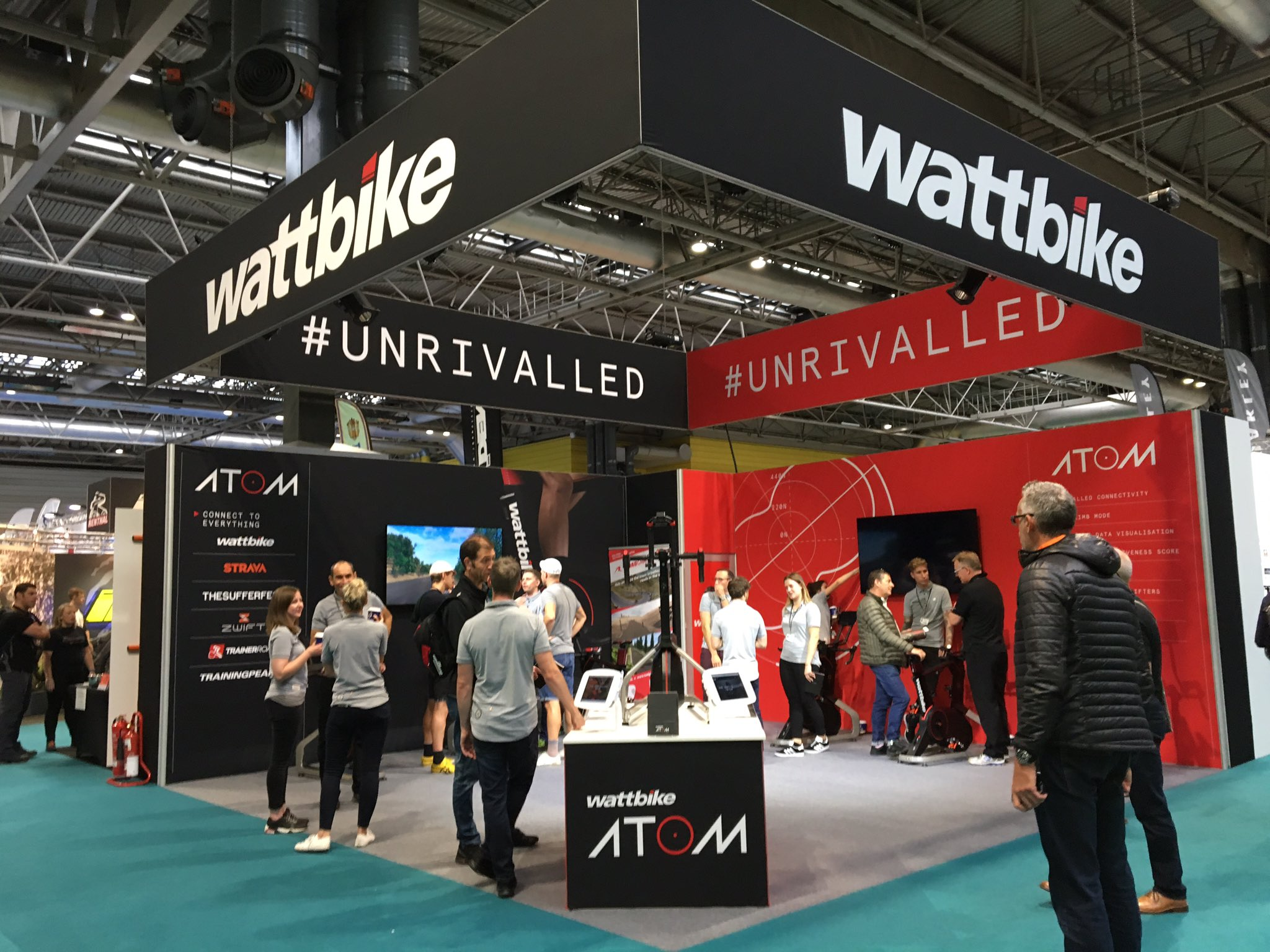 RT @wattbike: We're up and running at the @CycleShow - visit stand D47 to experience the #Unrivalled Wattbike Atom! https://t.co/UxCyVlZUFz