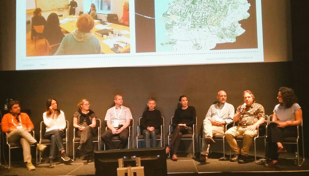 &quot;#Cities and #Universities working together successfully: What does it take?&quot;  Expert panels discuss at #GreenSurgeMalmo<br>http://pic.twitter.com/JNu3wM1uzv