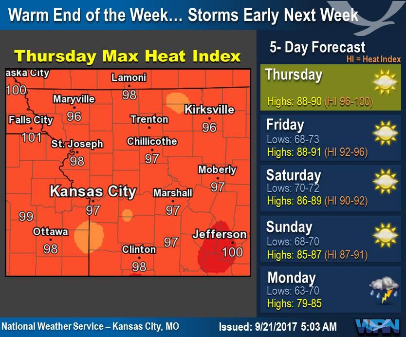 NWS Kansas City On Twitter Muggy Summerlike Warmth Is Like The - 5 day forecast kansas city