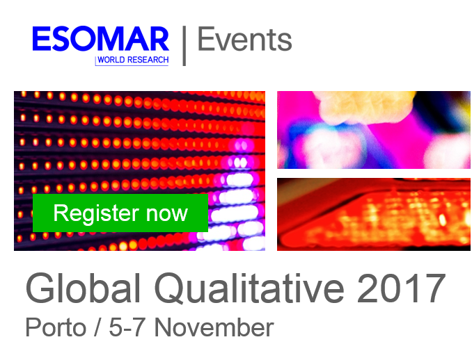 #Qualitative #researchers! Join us in #Porto for our annual #ESOMAR Global QUAL event!  http:// bit.ly/2qVtP7G  &nbsp;   #datascience #mrx #business<br>http://pic.twitter.com/LjXynP4LKu