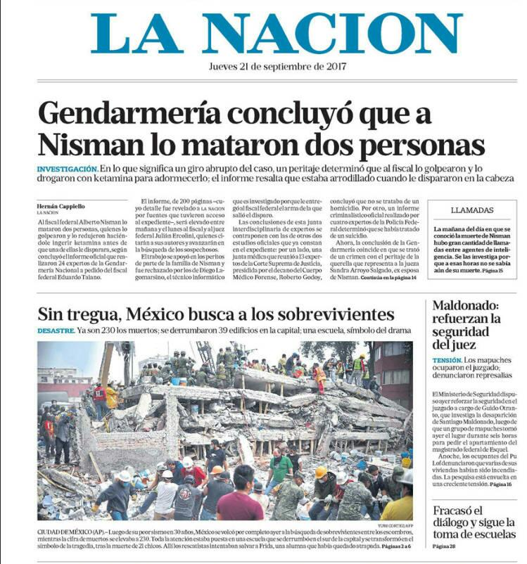 #21Sep ARGENTINA | Concluyen que a fiscal Nisman lo asesinaron. LA NAC...