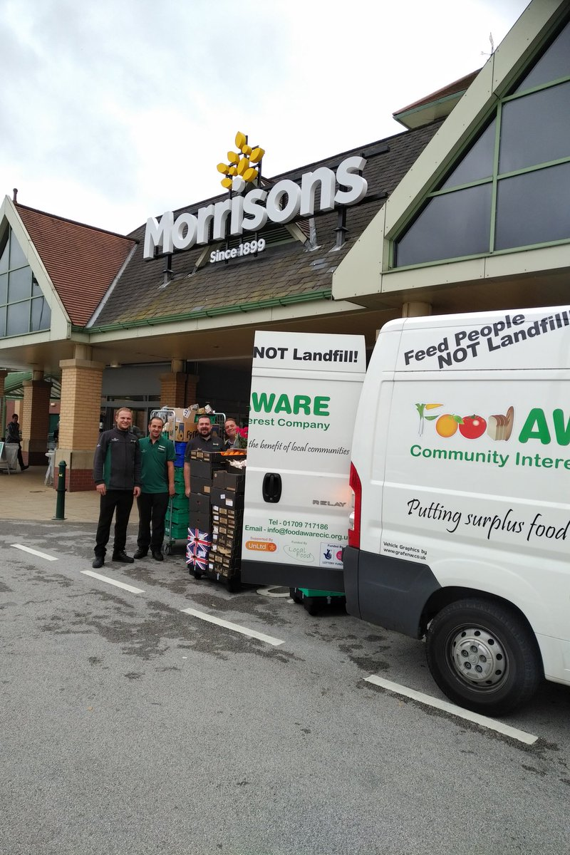 Another fab surplus food donation @morrisons Cortonwood #barnsleyisbrill #rotherhamiswonderful for our #SouthYorkshire #Foodbanks &amp; projects<br>http://pic.twitter.com/qDNN48OpIQ