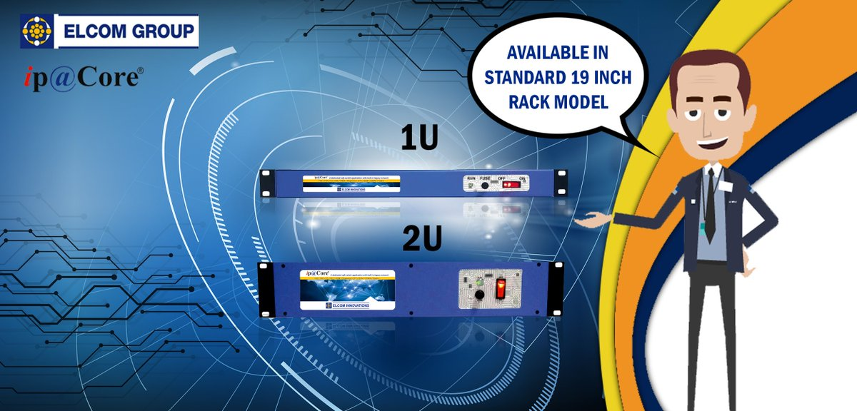 Does your IP-PBX consume too much of space? #ELCOM&#39;s #IP #PBX, ip@Core® is available in 1U &amp; 2U #sizes and is #rack mountable. #Telecom<br>http://pic.twitter.com/9KhlTV5Duu