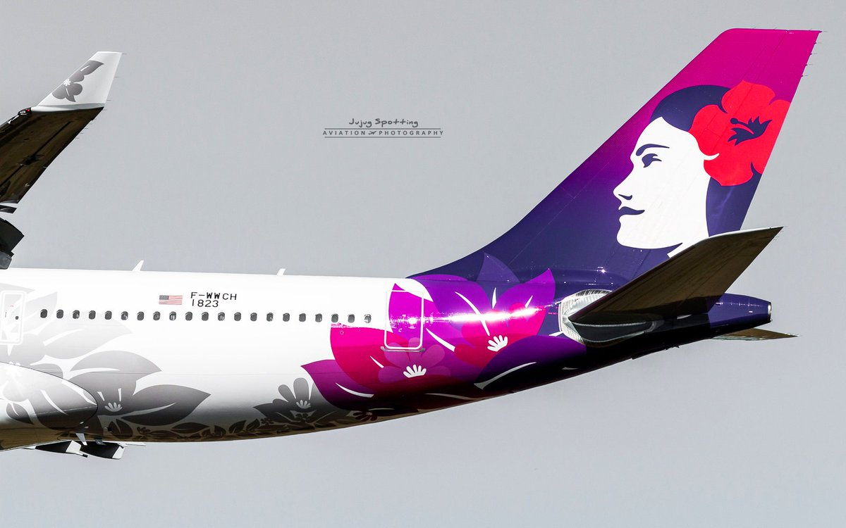 New livery @HawaiianAir on this brand new @Airbus #A330 s/n 1823 -&gt; N361HA. Delivery soon #Avgeek #Toulouse #Travel #Hawaii<br>http://pic.twitter.com/vIDhRsCxCk