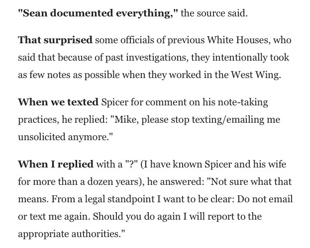 when @mikeallen asked @seanspicer about his notebooks https://t.co/RVCdvFkkhU https://t.co/Jd7Ax9GQGu