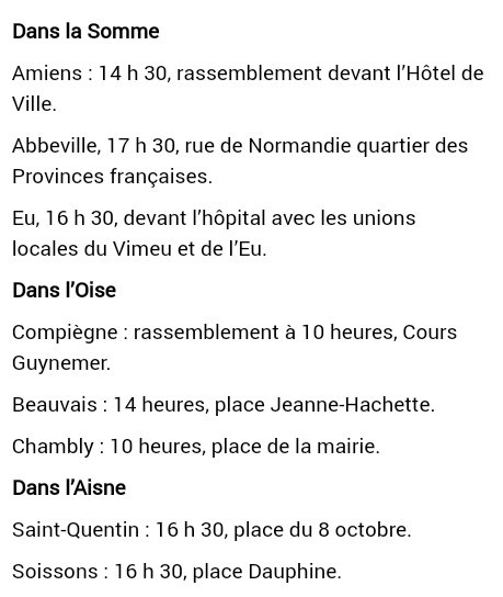 Les rassemblements en Picardie, par @courrierpicard. #manif21septembre...
