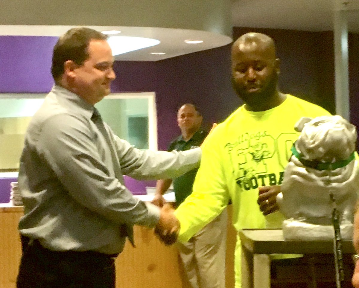 Congrats @COACH217ROLAND on winning the @FPCHS Teacher of the Month! #FMILY <br>http://pic.twitter.com/S6sd2HiyBd