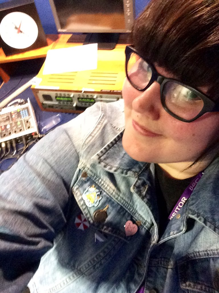 You can barely tell, but I wore my Ace pride pin whilst recording toda...