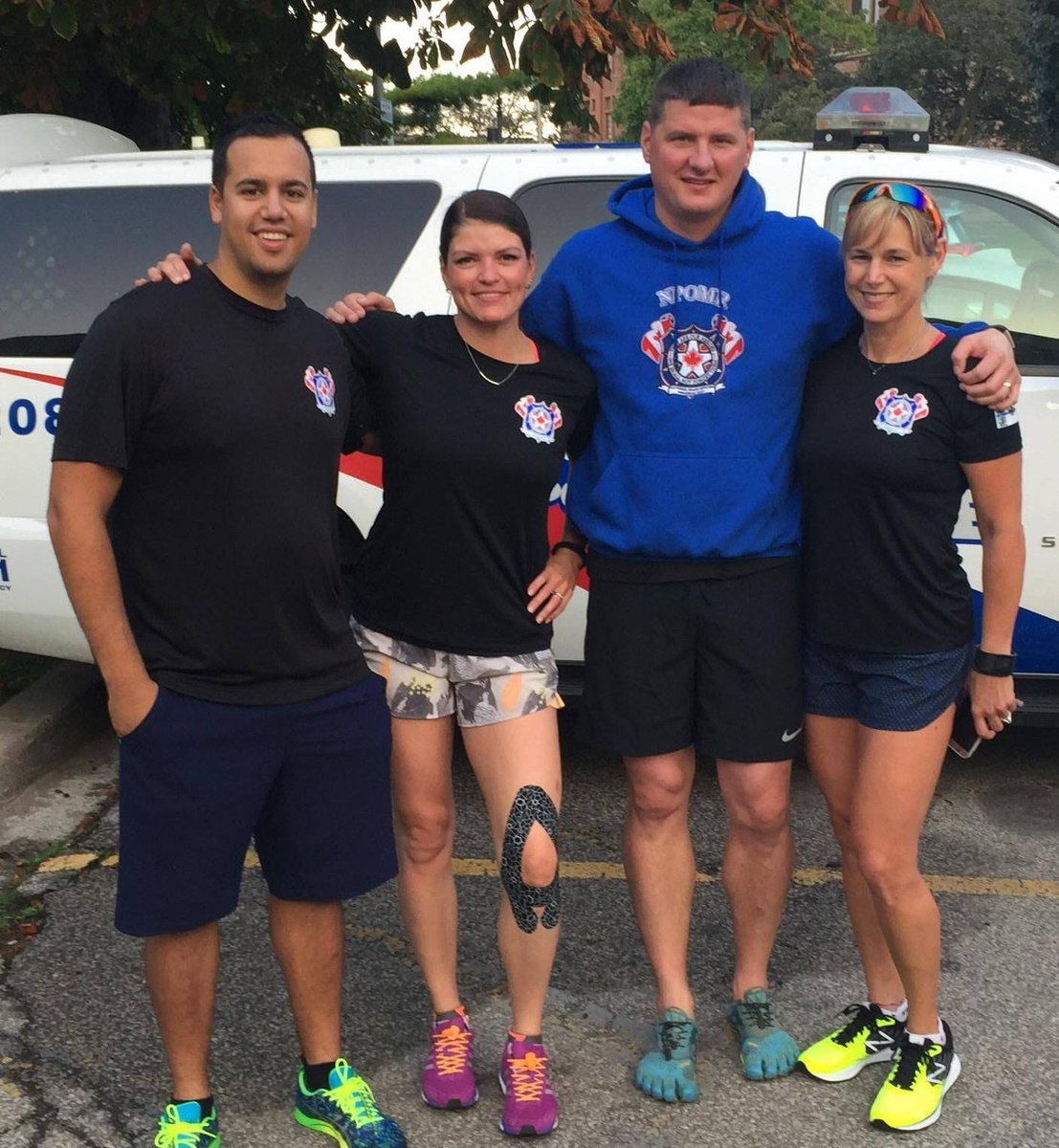 My team for the next 4 days for the @460km #RunToRemember running for...